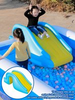 Pool & Accessories Inflatable Waterslide Wider Steps Swimming Supplies Gun Slide Bouncer Castle Waterslides Kids Summer Water Play Toys