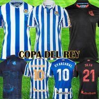 Real Sociedad 2019 2020 X.PRIETO J.ZALDUA AGIRRETXE Casa Camisola de Futebol CARLOS V. GRANERO M.BERGARA JUANMI camiseta de futbol Football Shirt