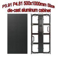 Muestra de la pantalla LED de la matriz LED a todo color de la pantalla TV P3.91 500x1000mm Mueble de aluminio fundido a presión HD P4.81 Signo Ali Express