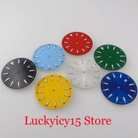 Repair Tools & Kits Nologo Luminous Index Fit NH35A 33.5mm Sterile Watch Dial Face Black Blue Red Orange Silver Date Window