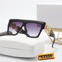 2021 فولت الأزياء الكلاسيكية تصميم النظارات الشمسية الاستقطبة الفاخرة للرجال النساء الطيار نظارات الشمس uv400 نظارات إطار معدني بولارويد مع صندوق