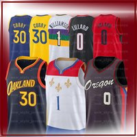 NCAA 30 Stephen Wiseman Curry 0 Damian Williamson Lillard 1 Zion Dunke Dikişli Basketbol Formaları