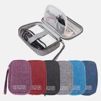 Borsa portatile Borsa da cavo Organizzatore Fili Caricatore Zipper Stoccaggio ACCESSORI ACCESSORI DI Digitale USB Gadget Electronic Auricolare