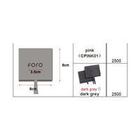 2500 PCS 8x8cm Escuro Cinza Microfiber Saco Logo Embossed