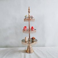 أخرى خبز 2-3 الطبقة الذهب والفضة المعادن كعكة حامل جولة الزفاف حزب عيد الحلوى كب كيك الركيزة عرض لوحة ديكور المنزل
