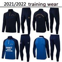 21/22 Glasgow Rangers Tracksuit Campeão de Futebol Campeão 55 Versão 2021 2022 Defoe Morelos Kent Adulto Kids Tracksuits Treinamento Survetement Futebol Camisa