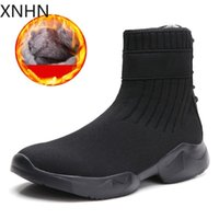 Boots Fashion Winter Socks For Women Black Shoes Mesh Casual Slip-On Sport Runing Breathable Punk Woman Sneakers