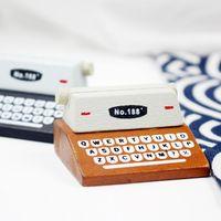 Filing Supplies Arrival Vintage Simulation Printer Folder Wooden Paper Po Business Card Clip Holder Decorative Message Stationery