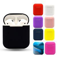 Casos suaves de silicone para Apple Airpods 1/2 Caixa Protetora Bluetooth Fone de Ouvido Sem Fio Capa Caixa de Carregamento Bolsas