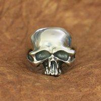 Cluster Rings Skull Ring 925 Sterling Silver Mens Biker Rock Punk TA171