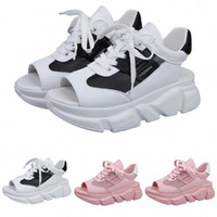 Sandalet Yaz Kadınlar Düz Alt Ayakkabı Vahşi Kalın Alt Rahat Balık Ağız Spor Sandalet Açık Toe Comfy Chaussure Femme Y96T #