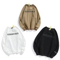 2021 Essentials Hoodie Hip Hop Winter Sweatshirt Reflektierende halben Reißverschlussständer Angst Sweatshirts Luxus Designer Kleidung Frau von Gott Damen Herren Hoodies