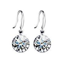 Pendientes colgantes 925 Pendientes de boda de plata esterlina Mujeres con piedras Earings Fashion Charm Jewelry Stud Pendientes 164 Q2