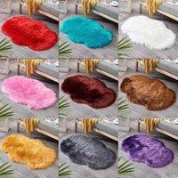 Umweltfreundliche und luxuriöse Design Wollimitation Schaffell Teppiche Faux Rutschfeste Schlafzimmer Shaggy Teppichmatten