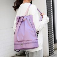 lu mens womens sport Backpack Fitness bags Travel Storage Bag outdoor nylon lulu Backpacks fold Dry and wet separation lululemen