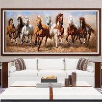 Peintures Toile moderne Peinture Seven Chevaux blancs Posters Print Mur Art Image pour salon Chambre à coucher Décorative Décor Décor