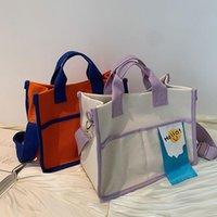 Cross Body Original Brand Wild Ins Ladies Bag 2021 Fashion Large Capacity Shoulder Canvas Tote Lunch Box Mummy