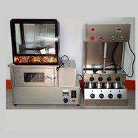 Хлебные производители Коммерческое использование Верхний дизайн 3Цетки Машины для мороженого Pizza Cone Matcher + Духовка + витрина
