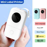 D30 Мини Термальная этикетка Принтер Бумага Бумага 1D / или штрих-код Этикетки Bluetooth Frontless Bluetooth Маркета Карманные принтеры для домашнего использования