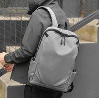 Designer-Mann Rucksack Plain Nylon Große Kapazität Reisetasche Unisex Schultasche USB Rucksäcke im Freien Reise