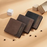 Wallets Man Wallet High Quality Business Card Holder Mini Men PU Leather Small Purse Vip Luxury Bag Fathers Day Gifts Ridge