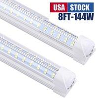 20 قطع، v- شكل 2ft 3ft 5ft 6ft 6ft برودة الباب أدى أنابيب T8 متكاملة LED أنابيب مزدوجة الجانبين أدى أضواء 85-265V الأسهم في الولايات المتحدة