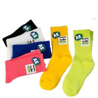 Fashion Brand Womens socks daily Streetwear Ins Stacked style Girls Sports Cheerleader Running stocking Solid Candy colors