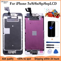 Full Assembly For iPhone 6 6S Plus LCD With Camera Home Button Completed Screen Replacement Assembly Display Guarantee