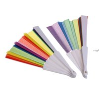 Rainbow Fans Folding Fans Art Colorful Hand Held Fan Summer Accessory For Birthday Wedding Party Decoration Party Favor Gift HHE9791