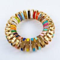 2021 الساخن المينا rainbow امرأة الصلب h سوار أساور الأزياء للرجل المرأة مجوهرات سوار مجوهرات اختياري غرامة سوار مع dustbag