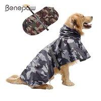Benpaw Camouflage Reflektierende Haustierhund Regenmantel Einstellbare Golden Retriever Medium Große Hundekleidung Wasserdichte Leichte Q0305