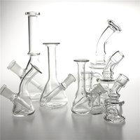 10mm 14mm Female Mini Glass Bong Water Pipes Pyrex Hookah Oil Rigs Smoking Bongs Thick Heady Recycler Rig for Smoke