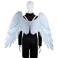 Halloween 3D Angel Wings Mardi Gras Theme Party Cosplay Alas para niños adultos grandes grandes alas negras del diablo H0907