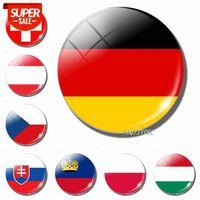 Deutschland Zentrale Magnetflagge 30mm National Slowakei Europa Tschechisch Polen Ungarn Kühlschrank # KR4F Schweiz Liechtenstein AufklebershipMee AU CRKW