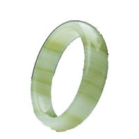 56-62mm Natural Silk Wrapped Jade Bracelet Free Ship ping