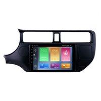 KIA RIO 2012 LHD를위한 자동차 DVD 플레이어 USB 와이파이 AUX 지원 백업 카메라 안드로이드 10 9 인치 터치 스크린