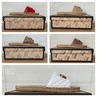 2021 Classic Designer Ladies Fashion Pyples Slippers Casual All-Match Style Style Tessuti per Pescatori Sandali Pantofole con scatola