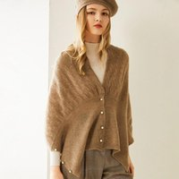 Scarves 100% Pure Cashmere Women Luxury Knit Solid Scarf Multifunction Female Pashmina Shawl Wrap Lightweight Open Cardigan Sweater