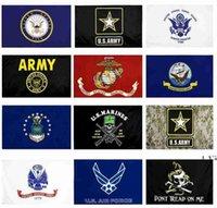 Newus Army-Flagge USMC 13 Armee Direkte Fabrik Großhandel 3x5FTs 90x150cm Luftwaffe Schädel Gadsden Camo Army Banner US Marines EWA5025