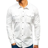 chemise Men' s white shirt Autumn And Winter Fashion Too...