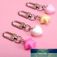 Cute Resin Heart Keychain Bag Charm Woman Key Ring Key Holder Gift Acrylic Love Key Chain Keychains Funny Gifts Factory price expert design Quality Latest Style