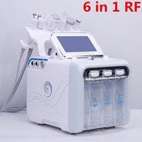 الولايات المتحدة الأمريكية مستودع 6 في 1 صغيرة فقاعة العناية بالبشرة أداة بالموجات فوق الصوتية RF HYDRA الوجه العميق المسام تنظيف آلة تدليك الوجه