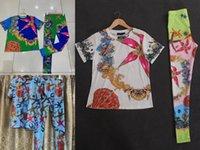 Estilo barroco Pantalones de dos piezas Estrella de mar Impresión de impresión + leggings o media falda