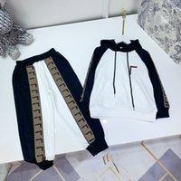 Tasarımcı Çocuk Setleri Hoodies + Pantolon Takım Marka Erkek Kapşonlu Kazak Giyim Boyutu 110-160