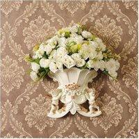 북유럽 천사 벽 장착형 꽃병, 벽 장착식 꽃 바구니, 창조적 인 장식 거실 꽃 펜던트, 웨딩 장식