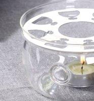 Heizbasis Kaffee Wasser Tee Kerze Klarglas Wärmebeständige Teekanne Wärmer Isolierbasis Kerze Halter Tee Zubehör GGA4247