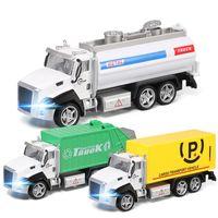 LD دييكاست سبيكة مدينة القمامة شاحنة نموذج لعبة، سيارة سقي، مركبة صريحة مع علامات الصوت، التراجع، ل هدية عيد ميلاد عيد الميلاد، 6616