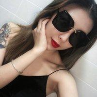 Weixinbuy Солнцезащитные очки Модная мода квадрат полуметал Большая рамка Ретро Солнцезащитные Очки Очки