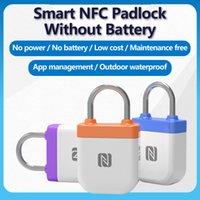 NPC Smart Padlock Bluetooth Smart Luggag Lock Mobile Phone NFC Reverse Power Supply Keyless Card Door Padlock
