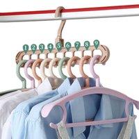 Clothes hanger clip organizer closet organizer Space Saving Multi-port magic hanger Plastic Scarf cabide hangers for clothes RRD7656
